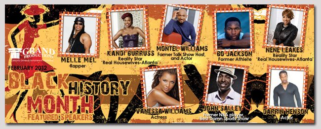 book a celebrity black history month event