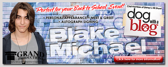 book a celebrity blake michael event