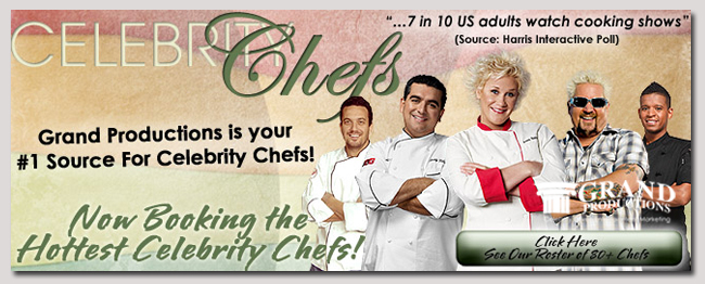 book a celebrity celebrity chef event