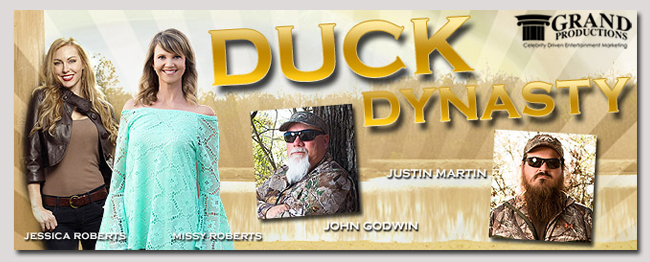 book a celebrity duck dynasty event
